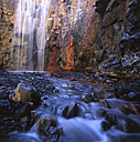 Spain, Canary Islands, La Palma, Caldera de Taburiente National Park, Cascada Colorada waterfall - DSGF01372