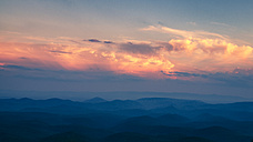 USA, Virginia, Blue Ridge Mountains at twilight - SMAF00615