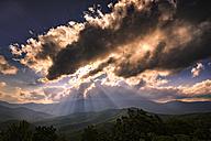 USA, Virginia, Blue Ridge Mountains at twilight - SMA00618