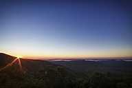 USA, North Carolina, view from Blue Ridge Parkway to Pisgah Forest at sunrise - SMAF00630