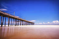 USA, North Carolina, Outer Banks, wooden pier of Nags Head - SMAF00648