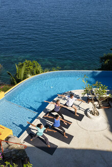 View from above at yoga group on ocean front property - ABAF02111