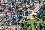 Germany, Weimar, aerial view the old town - HWOF00167