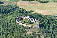 Germany, Wandersleben, aerial view of medieval Gleichen Castle - HWO00173