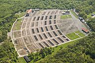 Germany, Weimar, aerial view of Buchenwald memorial - HWO00185