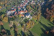 Germany, Weimar, aerial view of Ettersburg Castle - HWO00191