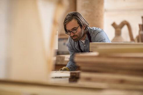Craftsman working in wood work - ZEF11916