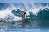 Spain, Tenerife, boy surfing - SIPF01202