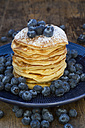 Pancakes with blueberries on plate - LVF05761