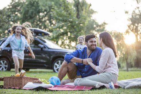 Happy having a picnic at road trip - WESTF22398