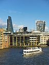 UK, London, view to Broken Wharf with tourboat on River Thames in the foreground - AMF05178