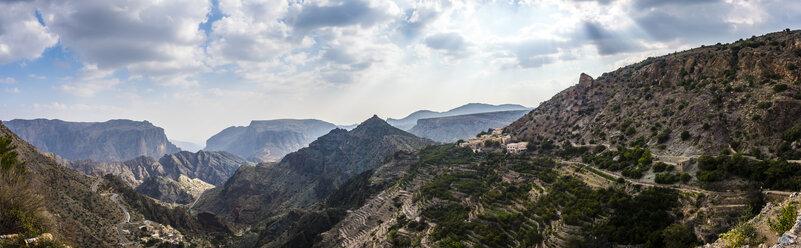 Oman, Jebal Akhdar, Al Shuraijah village and terrace fields - AMF05184