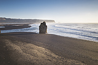 Iceland, South Iceland, Vik Rock on Reynisfjara beach - EPF00227