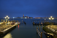 Italy, Venice, San Giorgio Maggiore as seen from San Marco at twilight - XCF00117