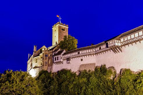 Germany, Thuringia, Eisenach, Wartburg at night - EGB00151