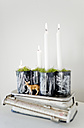 Upcycling of preserve cans as Advent wreath - GISF00272