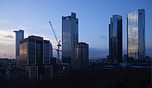 Germany, Frankfurt, view to skyscrapers at financial district - BSC00554