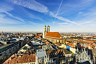 Germany, Munich, view to Cathedral of Our Lady from above - THAF01885