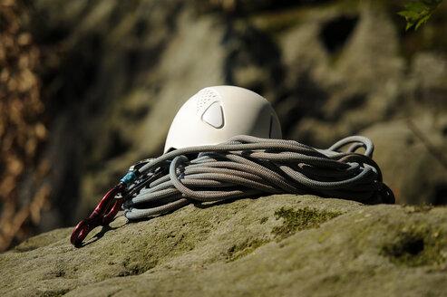 Climbing equipment on a rock - BTF00476