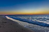 Netherlands, Zeeland, Kamperland, beach at sunset - MHF00411