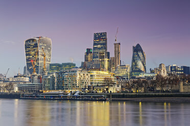UK, London, skyline with office towers at dusk - GFF00939