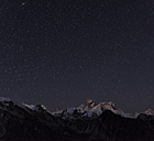 Nepal, Himalaya, Khumbu, Everest region, stars over Everest and Nuptse - ALRF00784