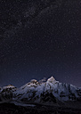 Nepal, Himalaya, Khumbu, Everest region, stars over Everest and Nuptse - ALRF00805