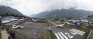 Nepal, Himalaya, Khumbu, Everest region, Lukla, airfield - ALR00811