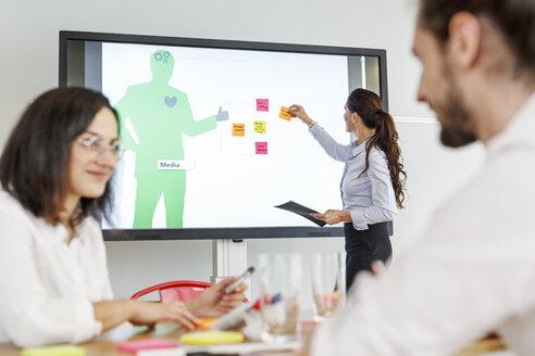 Businesswoman leading a presentation - PESF00399