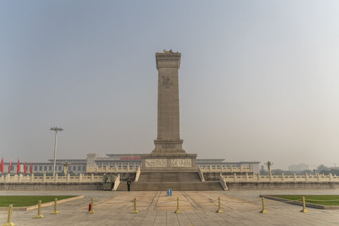 China, Beijing, view to Monument to the People's Heroes - PC00315