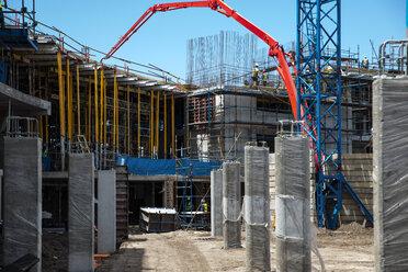 Concrete pump on construction site - ZEF12461