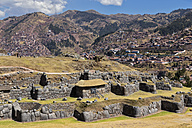 Peru, Andes, Cusco, view to the Inca ruins of Sacsayhuaman - FOF08733