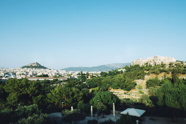 Greece, Athens, Acropolis and the city center at a sunny day - GEMF01449