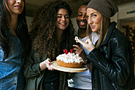 Group of young people celebrating birthday - VABF01072