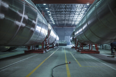 Large steel tanks in factory - ZEF12699