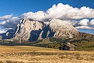 Italy, South Tyrol, Seiser Alm, Langkofel and Plattkofel - EGBF00212