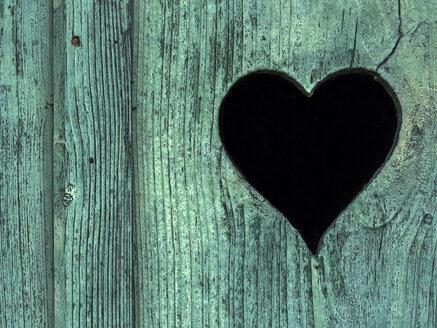 Heart cut in a toilet door - EJWF00838