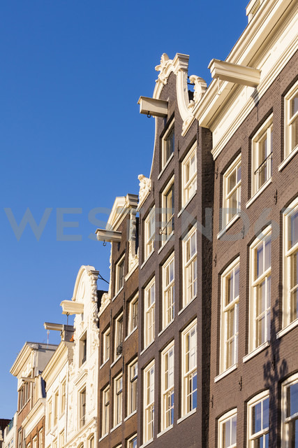 Netherlands, Amsterdam, row of canal houses at Prinsengracht - WDF03868