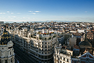 Spain, Madrid, cityscape with Gran Via street - KIJF01175