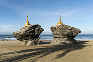 Myanmar, pagodas at the  beach of Ngwesaung - PCF00327