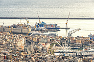 Italy, Genoa, old town and cruise terminal - CST01215