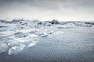 Iceland, panoramic view of Joekulsarlon, glacial river lagoon - EPF00320