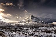 UK, Scotland, Glencoe, Buachaille Etive Mor in winter - SMA00666