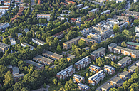 Germany, Hamburg, aerial view of residential area Alsterdorf, Alsterberg and Rotbuchenhain - PVCF00966