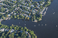 Germany, Hamburg, aerial view of Outer Alster Lake - PVCF00969