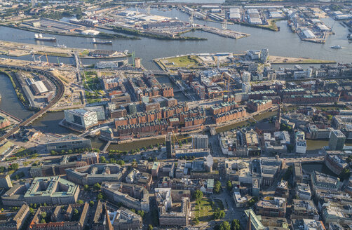 Germany, Hamburg, aerial view of Speicherstadt - PVCF00972