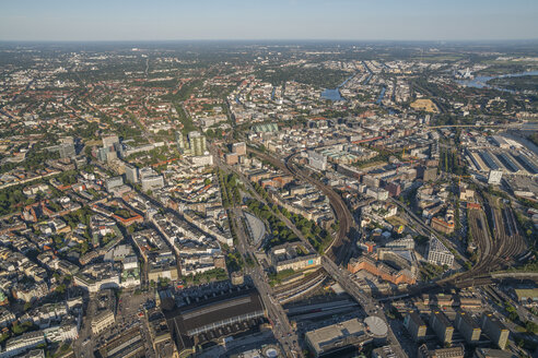 Germany, Hamburg, aerial view of Mitte and Wandsbek - PVCF00978