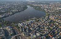 Germany, Hamburg, aerial view of Outer Alster Lake - PVCF00981