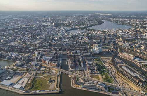 Germany, Hamburg, aerial view of the city - PVCF00990