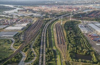 Germany, Hamburg, aerial view of Altenwerder - PVCF00999